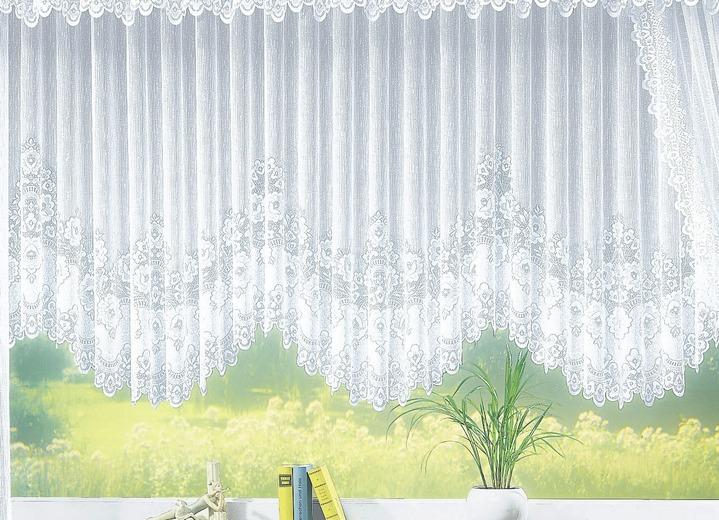 blumenfenster store gleichm ig gebogt mit faltenband gardinen bader. Black Bedroom Furniture Sets. Home Design Ideas