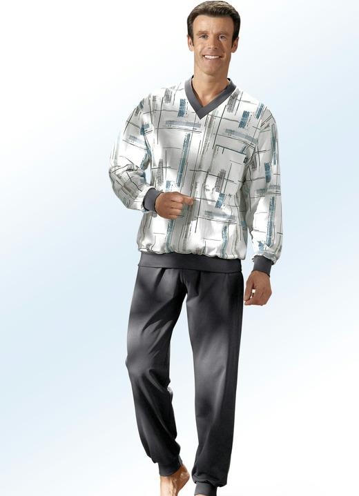 Schlafanzug in 2 farben mit v ausschnitt und b ndchen - Bader festliche kleider ...