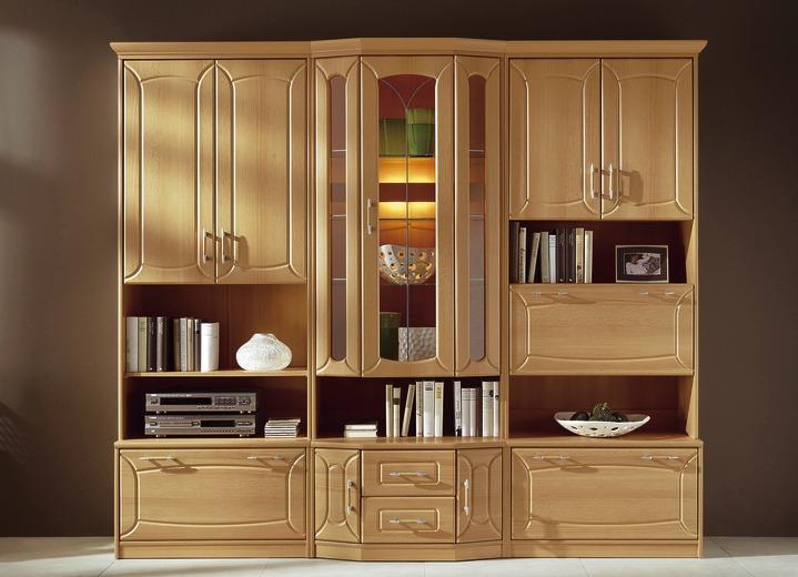 Schon Klassische Möbel   Klassische Wohnwand Mit Front In Buchedekor, In Farbe  BUCHE