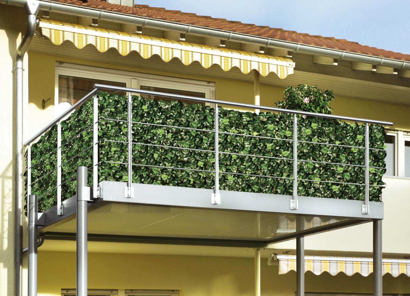 Sonnenschutz Für Balkon, Garten Und Terrasse Im Bader-onlineshop Balkon Pflanzen Blumen Sichtschutz