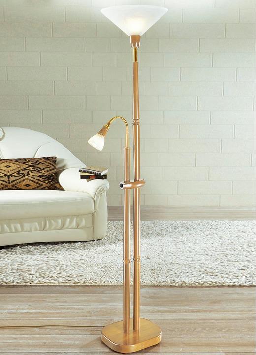 deckenfluter mit leselampe verschiedene farben klassische m bel bader. Black Bedroom Furniture Sets. Home Design Ideas
