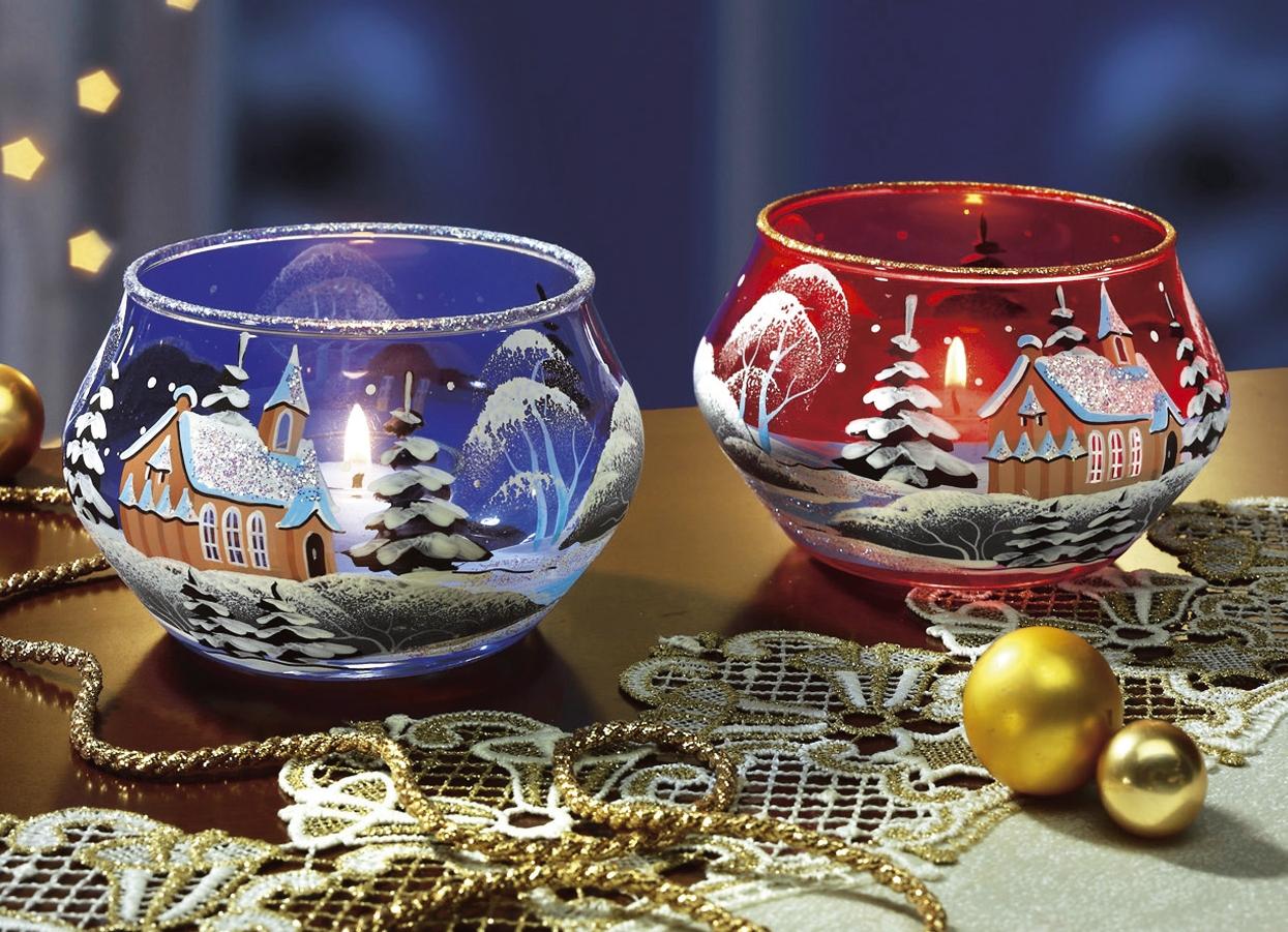 teelichthalter in verschiedenen farben weihnachtliche. Black Bedroom Furniture Sets. Home Design Ideas