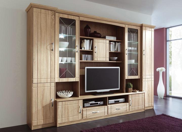 wohnwand in eiche sonoma dekor klassische m bel bader. Black Bedroom Furniture Sets. Home Design Ideas