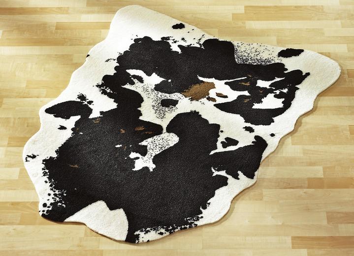 Teppich im kuhfell design teppiche bader - Kuhfell teppich schwarz ...