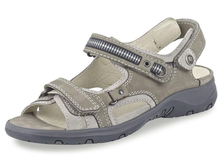 Sandalette in 6 Farben mit herausnehmbarem Lederfußbett, Weite H