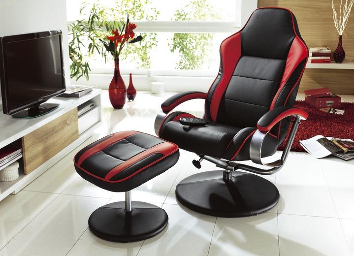 Relax Sessel mit Hocker in verschiedenen Ausführungen
