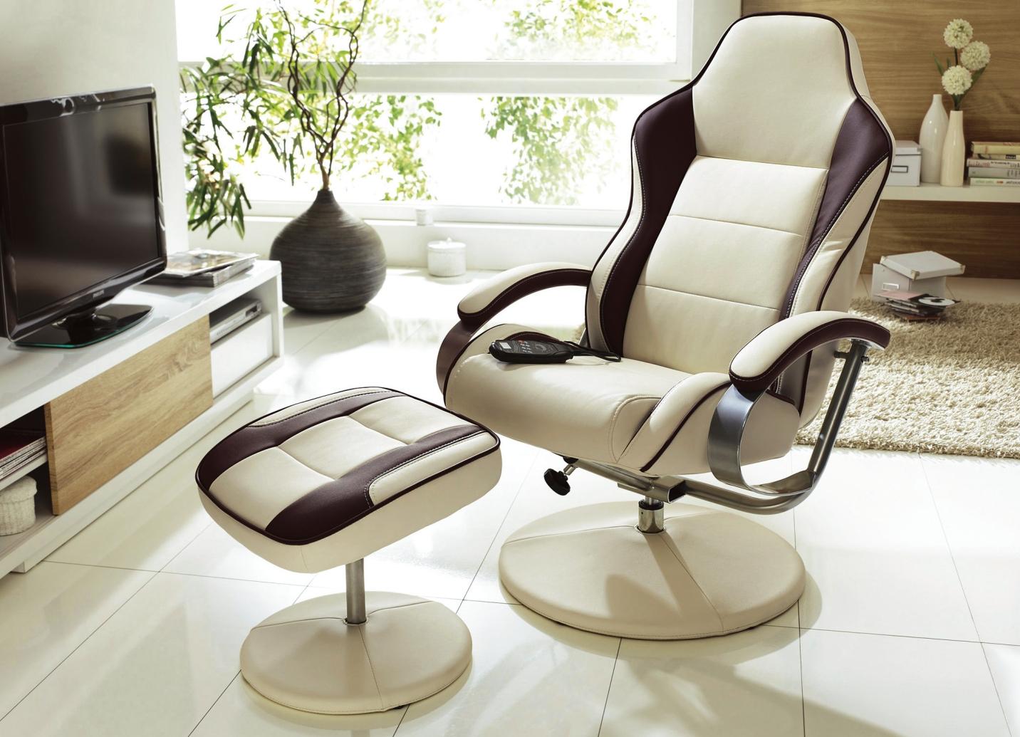 Relax sessel mit hocker in verschiedenen ausf hrungen for Sessel mit hocker rot