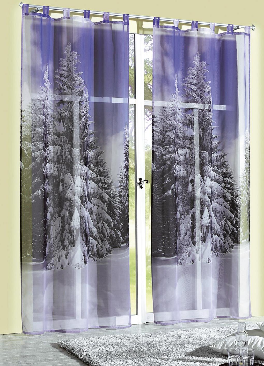 dekoschal winterwald in verschiedenen ausf hrungen gardinen bader. Black Bedroom Furniture Sets. Home Design Ideas