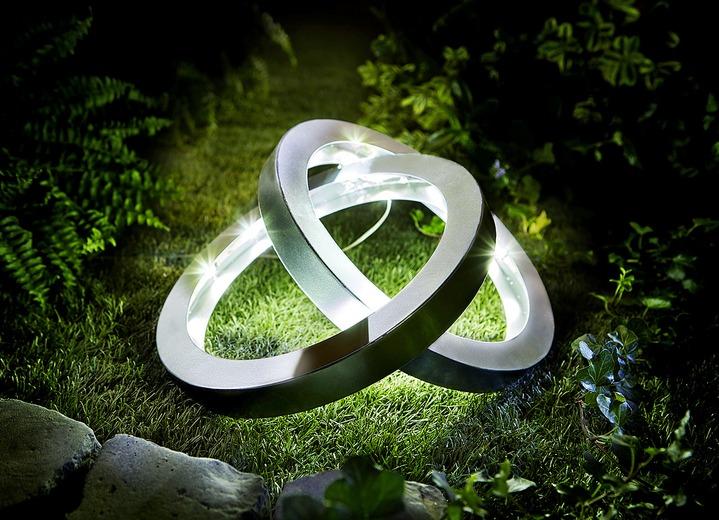 Solar Leuchte Ringe Gartenbeleuchtung Bader