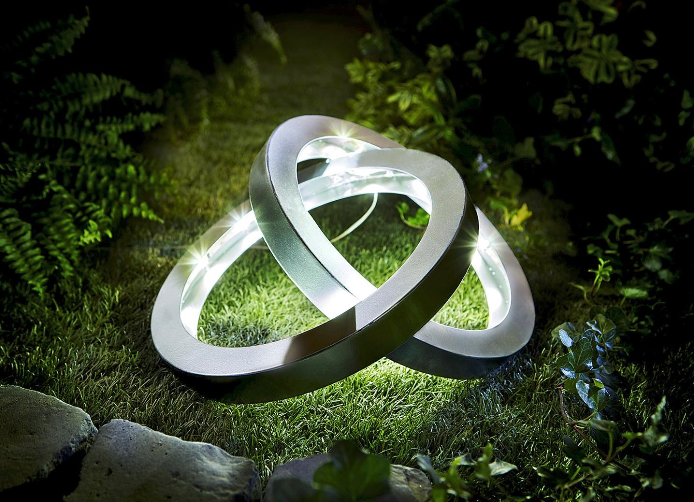 solar leuchte ringe gartenbeleuchtung bader. Black Bedroom Furniture Sets. Home Design Ideas