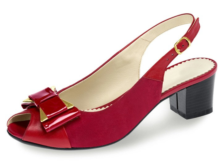 sneakers for cheap 57537 f2d88 Elegante Sandalette in 4 Farben, Weite H