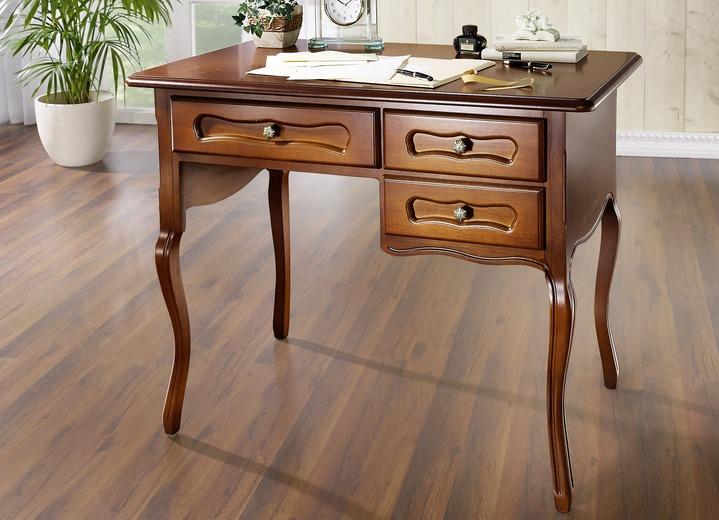 Büromöbel Schreibtisch In Verschiedenen Ausführungen Farbe Nussbaum Ausführung Klein