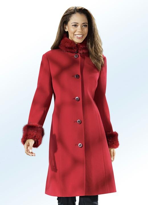 Mantel mit kunstpelz