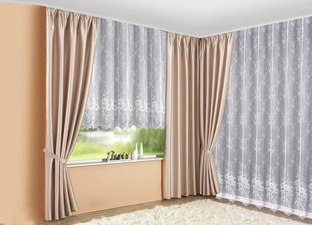 bergardinen garnitur in verschiedenen farben gardinen bader. Black Bedroom Furniture Sets. Home Design Ideas