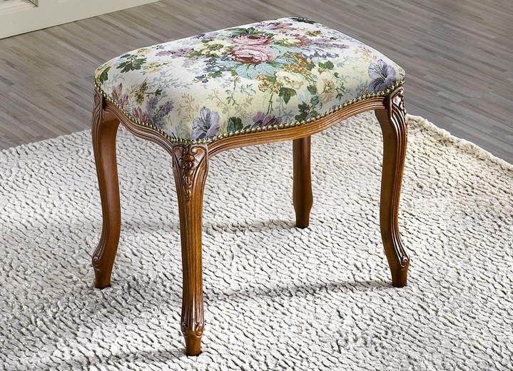 Hocker mit floralem Gobelin-Bezug - Polstermöbel | BADER
