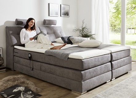 boxspringbett mit taschenfederkern oder bonnellfederkern. Black Bedroom Furniture Sets. Home Design Ideas