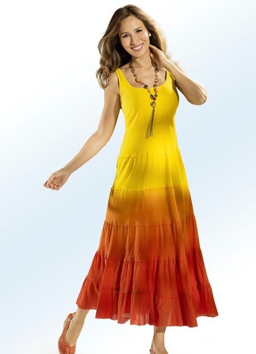 Wohlfühlmode - Kleid in Batik-Optik, in Größe 036 bis 052, in Farbe 54ab482b44