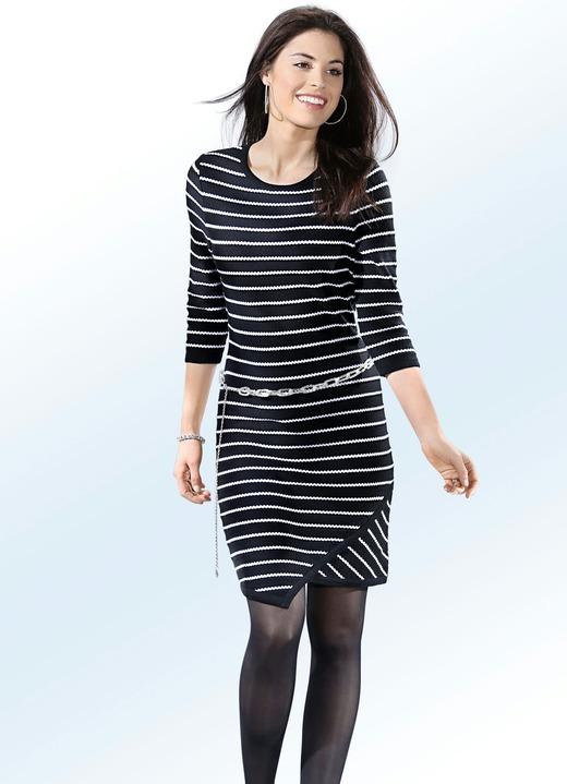 outlet store 55867 50f18 Strick-Kleid in 2 Farben mit raffiniertem Saum