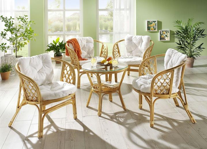 Landhausmöbel   Rattan Garnitur In Verschiedenen Ausführungen, In Farbe  HONIG, In Ausführung Tisch