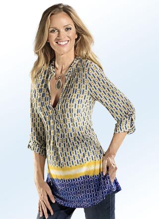 Mit schönem Bordüren-Druck ausgestattet ist diese hübsche Shirt-Tunika 264de0f839