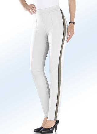 Soft-Stretch-Hose mit hohem Stretchanteil. WEISS-TAUPE 16526c2126