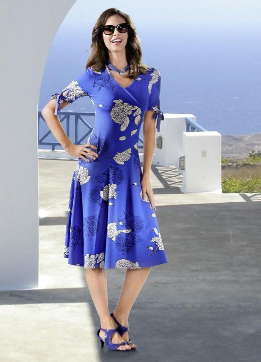 81788dbab24b4c Kleider - KLAUS MODELLE Kleid in Wickel-Optik, in Größe 036 bis 052,