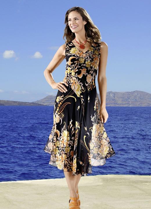 Kleid Mit V Auschnitt Kleider Bader