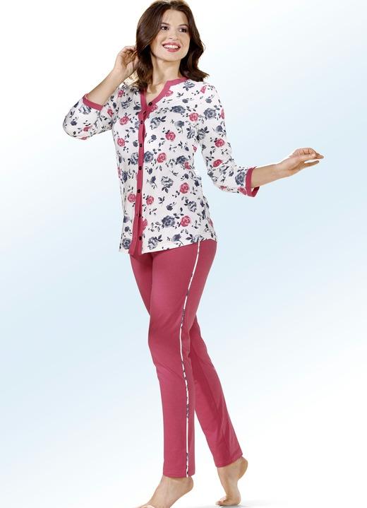 premium selection 9fca7 f22cf Schlafanzug mit durchgeknöpftem Oberteil und langen Ärmeln