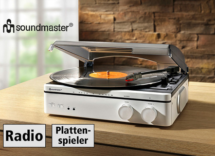 Soundmaster PL560WE Plattenspieler mit Radio