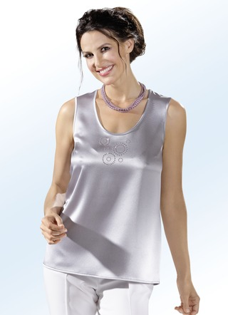 Kombistarkes Party-Top in Silber
