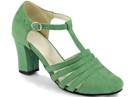 Attraktiver Sandaletten-Pumps in 3 Farben mit Elastomeres