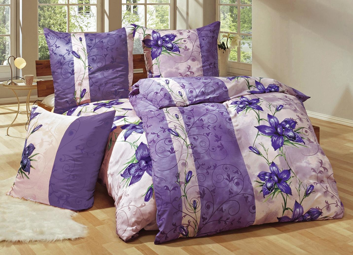 bettw sche garnitur 6 teilig verschiedene farben. Black Bedroom Furniture Sets. Home Design Ideas