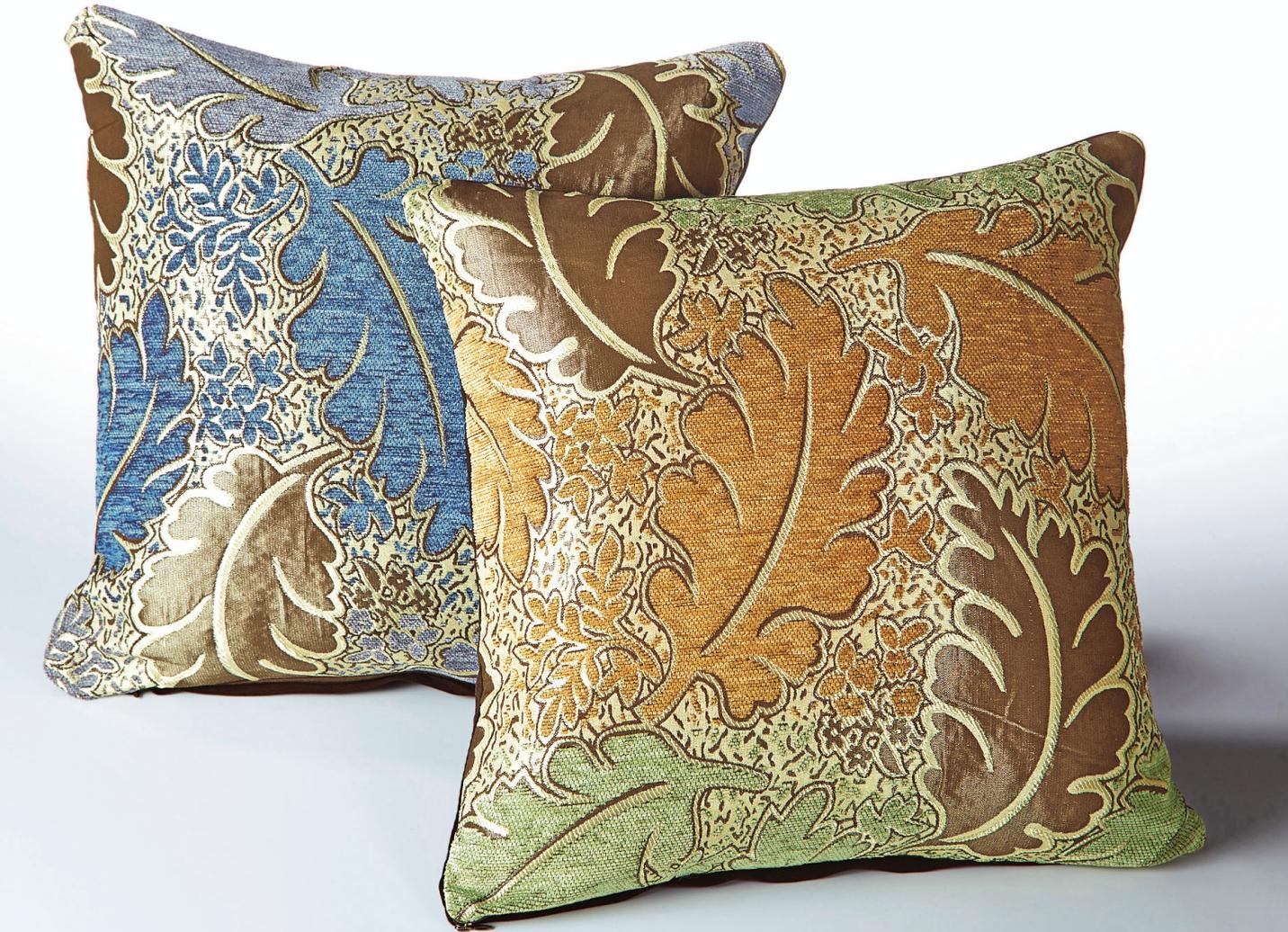 kissenh llen 2er set bl tter in verschiedene farben wohnaccessoires bader. Black Bedroom Furniture Sets. Home Design Ideas