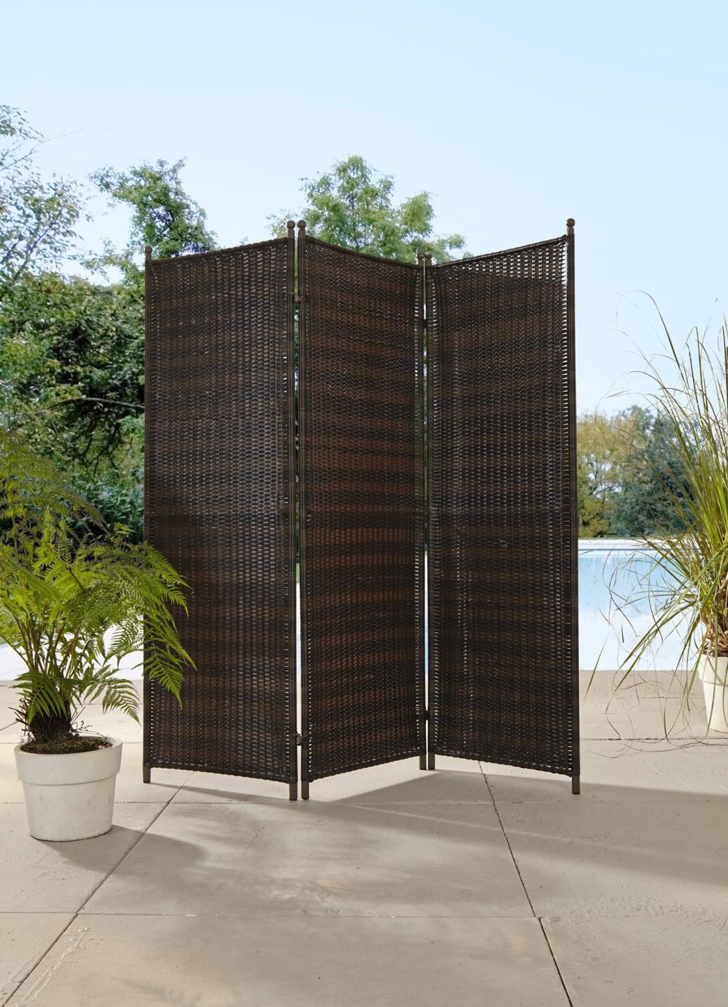 paravent aus kunststoffgeflecht sichtschutz und sonnenschutz bader. Black Bedroom Furniture Sets. Home Design Ideas