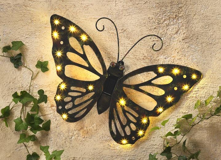 wandbild solar schmetterling leuchtende dekoration bader. Black Bedroom Furniture Sets. Home Design Ideas