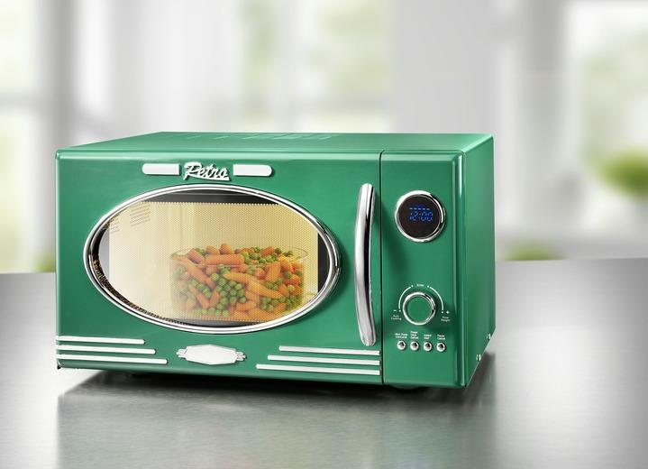 Retro Mikrowelle Mit Grillfunktion Elektrische Kuchengerate Bader