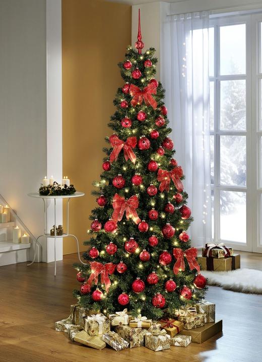 weihnachtsbaumschmuck in verschiedenen ausfuhrungen in farbe rot gold in ausfuhrung schleifen