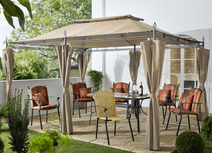 Pavillons - Pavillon Inca, inklusive Seitenteile, in Farbe BEIGE