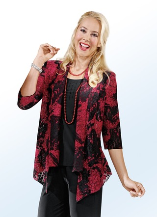 Party-Bluse in beliebter 2-in-1-Optik